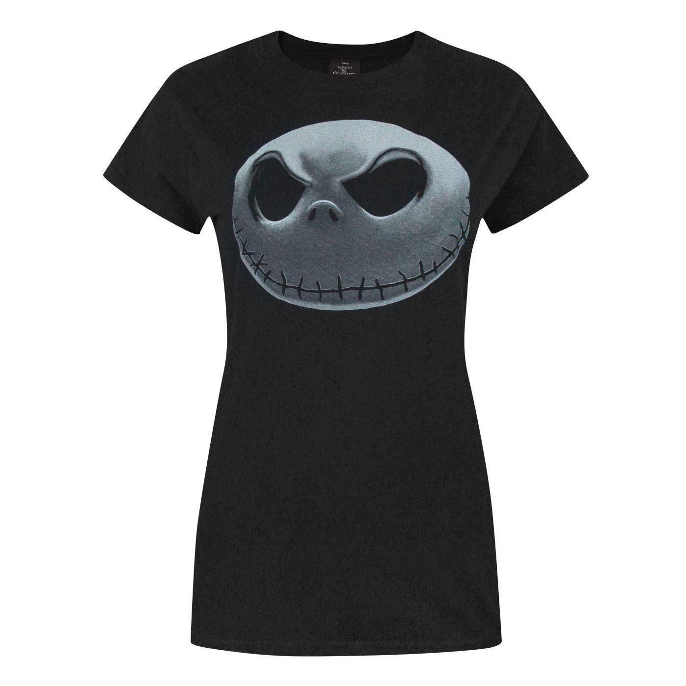 Nightmare Before Christmas Womens/Ladies Jack Skellington T-Shirt ...