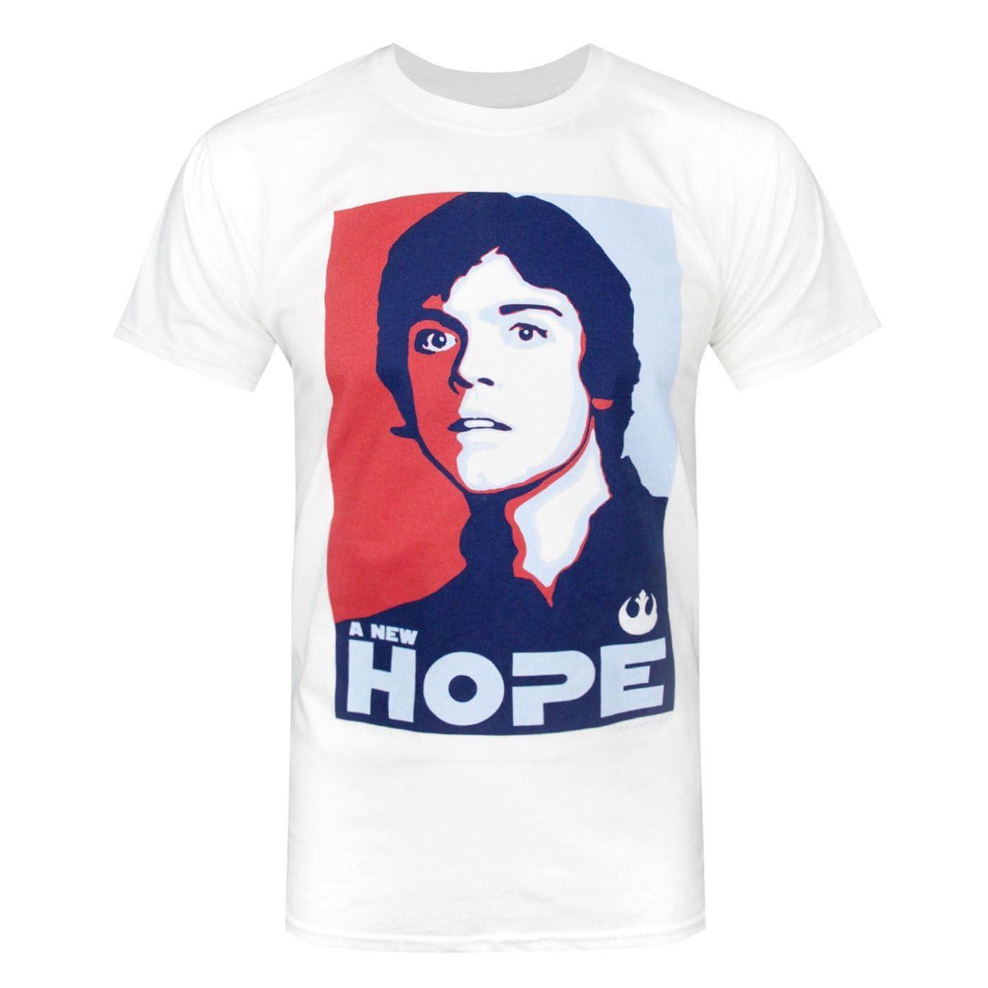 Star-Wars-Official-Mens-Luke-Skywalker-A-New-Hope-T-Shirt-NS4756