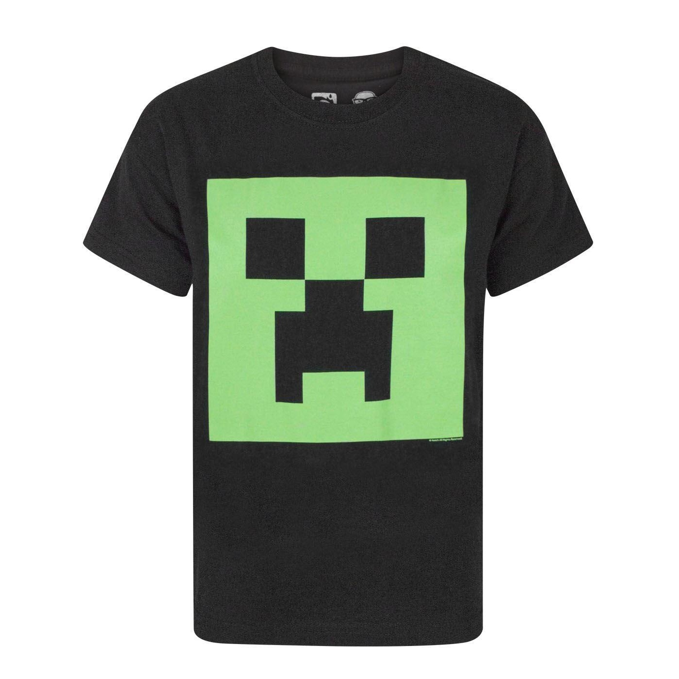 Minecraft-Official-Boys-Creeper-Glow-In-The-Dark-Face-T-Shirt-NS5062