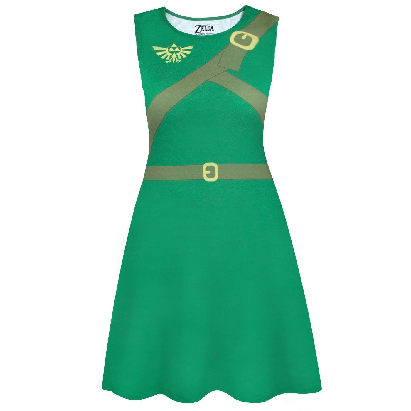 The Legend Of Zelda Womens/Ladies Classic Link Costume Dress (XL) (Green)
