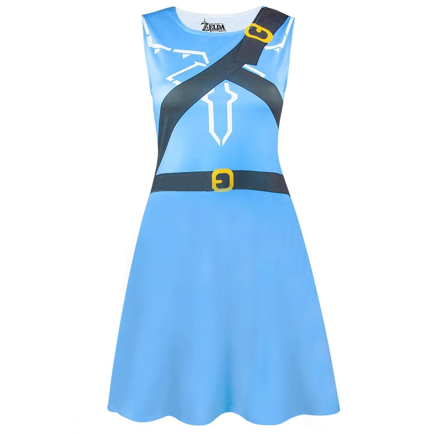The Legend Of Zelda Womens/Ladies Breath Of The Wild Costume Dress (L) (Blue)