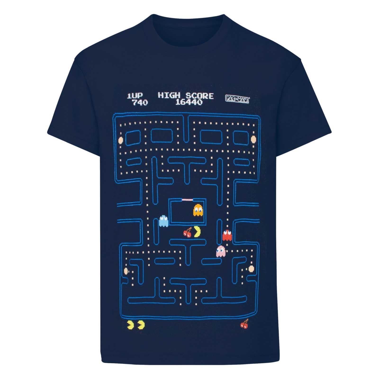 Pac-Man Boys Classic Action Scene T-Shirt (13-14 Years) (Navy)
