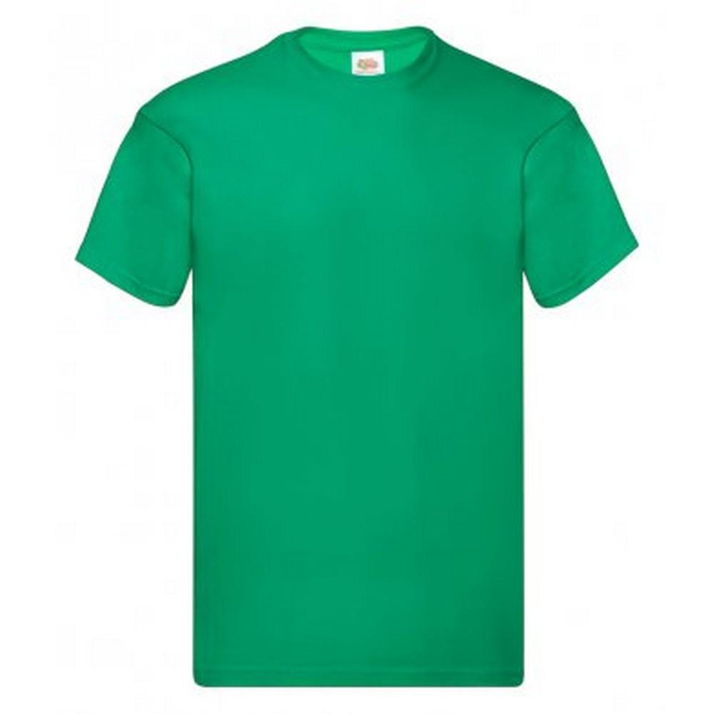 Fruit Of The Loom Mens Original Short Sleeve T-Shirt (L) (Kelly)