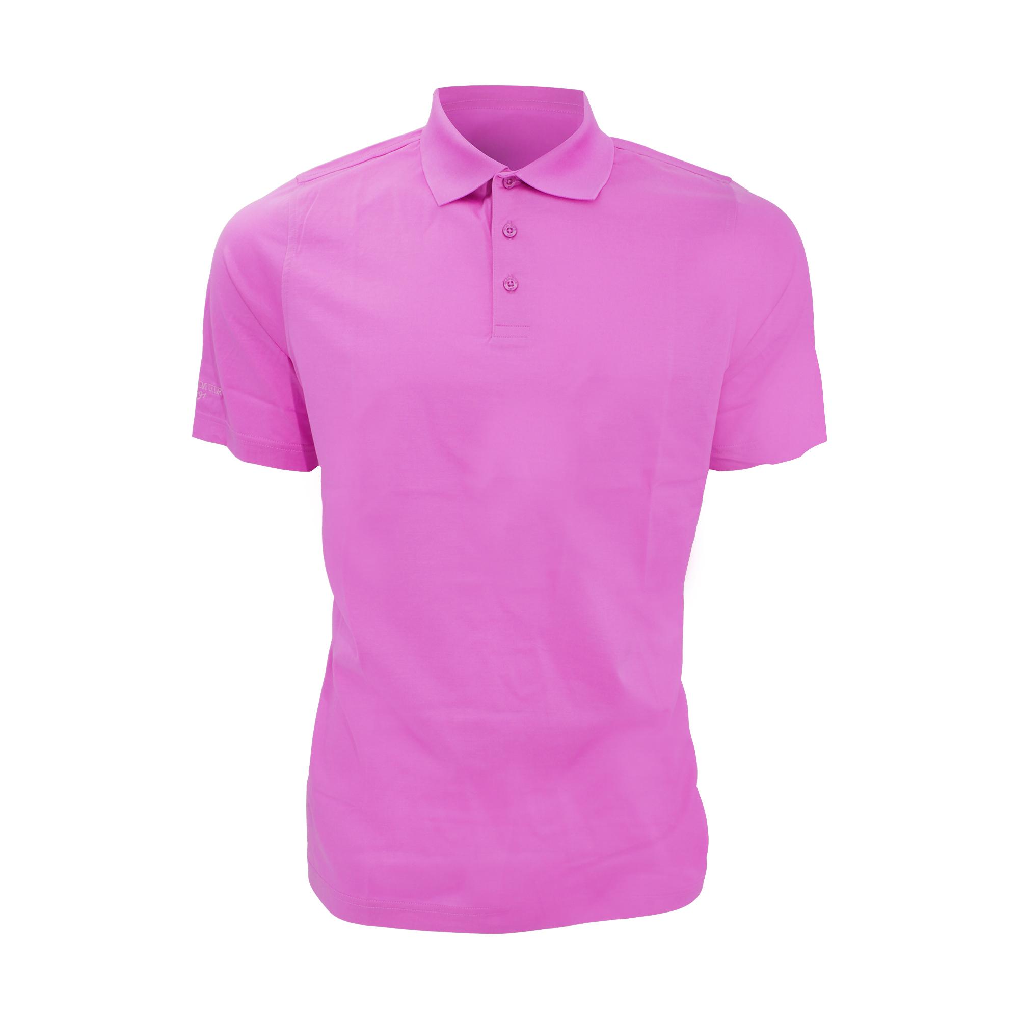 Glenmuir Mens Plain Mercerised Short Sleeve Polo Shirt (L) (Black)