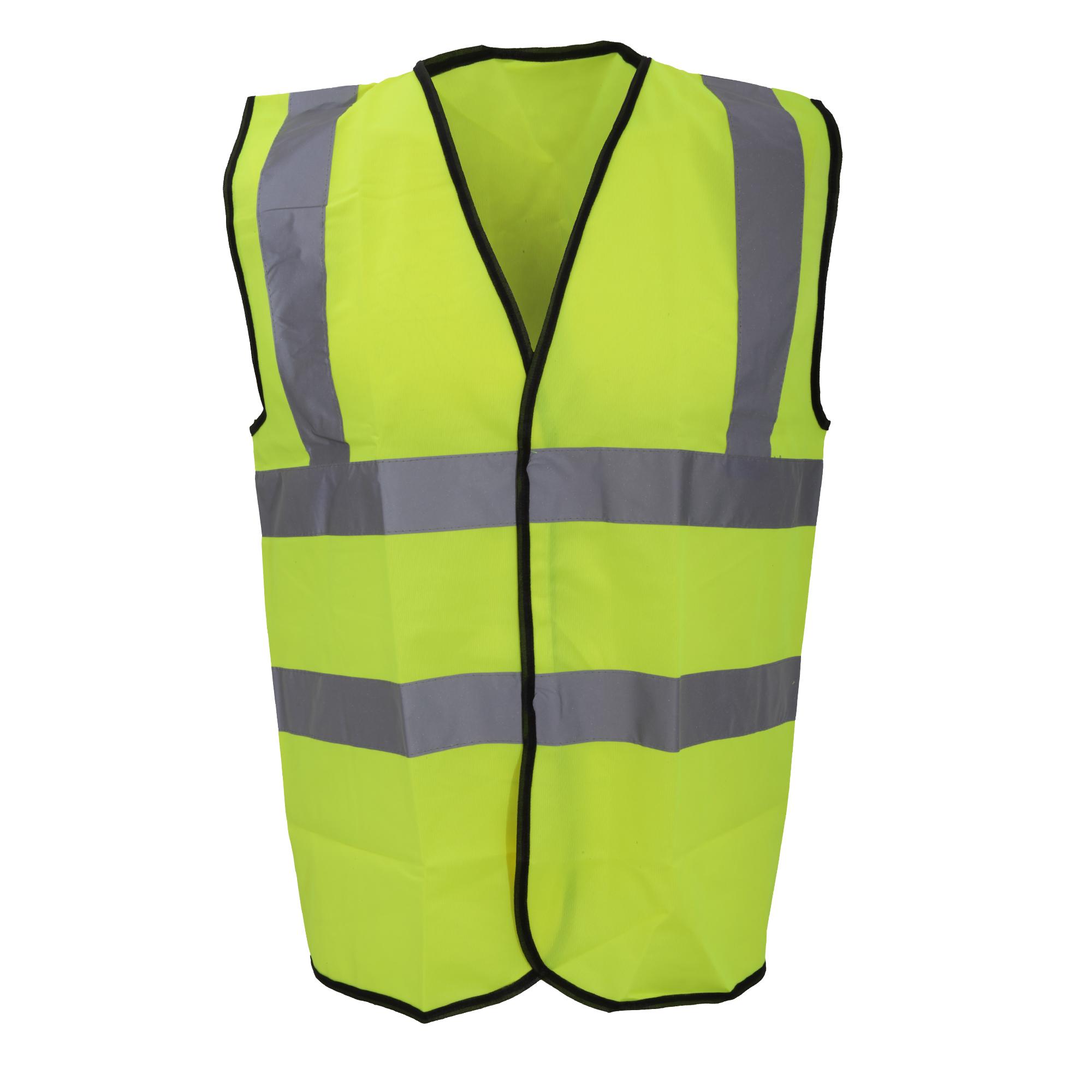 Warrior Mens High Visibility Safety Waistcoat / Vest (XXL) (Fluorescent Yellow)