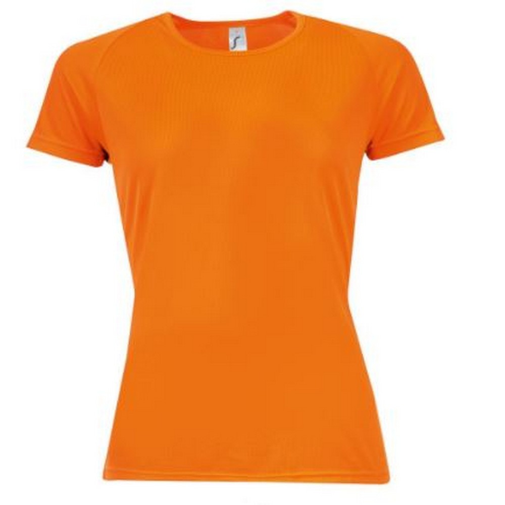 SOLS Womens/Ladies Sporty Short Sleeve T-Shirt (M) (Neon Orange)