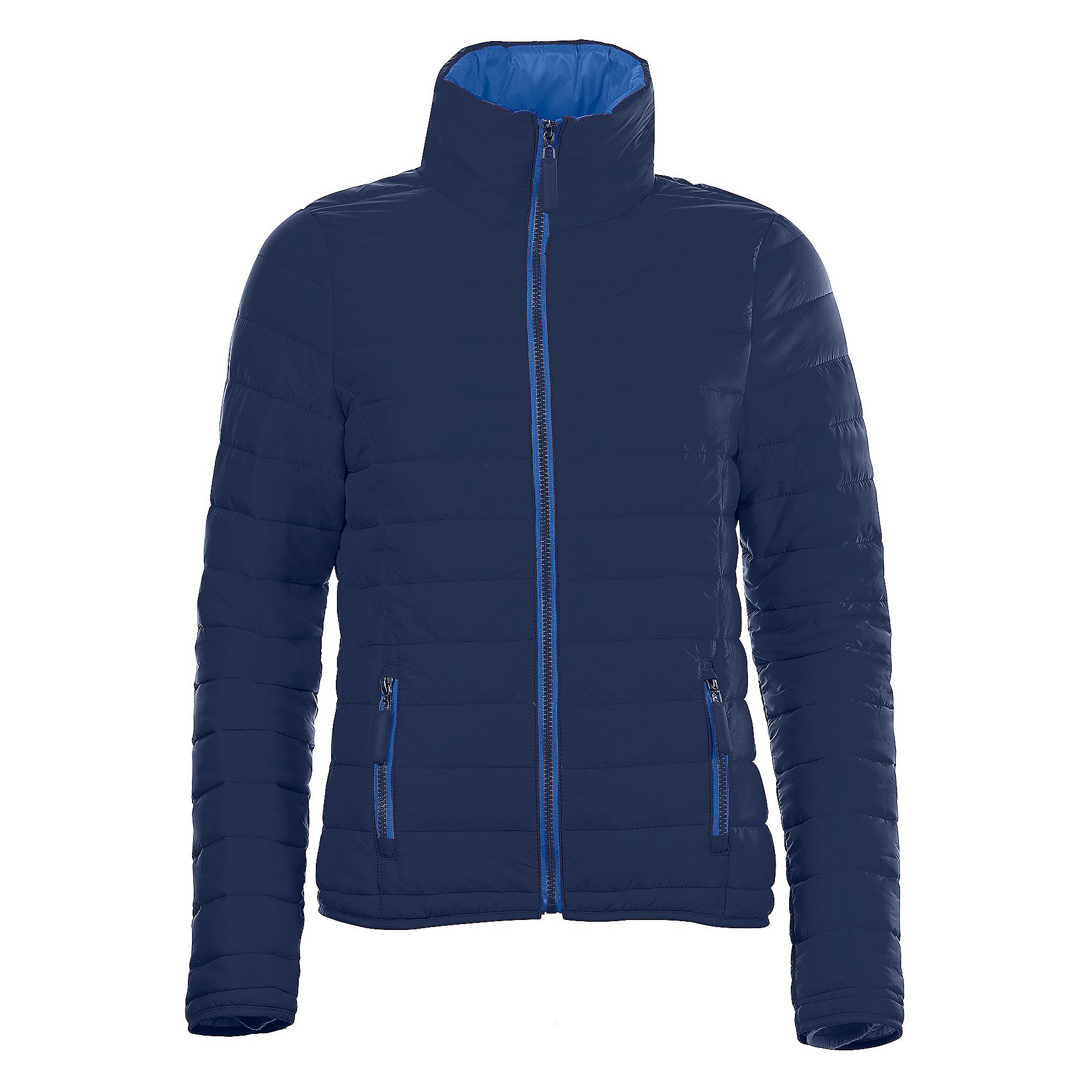 SOLS Womens/Ladies Ride Padded Water Repellent Jacket (S) (Navy)
