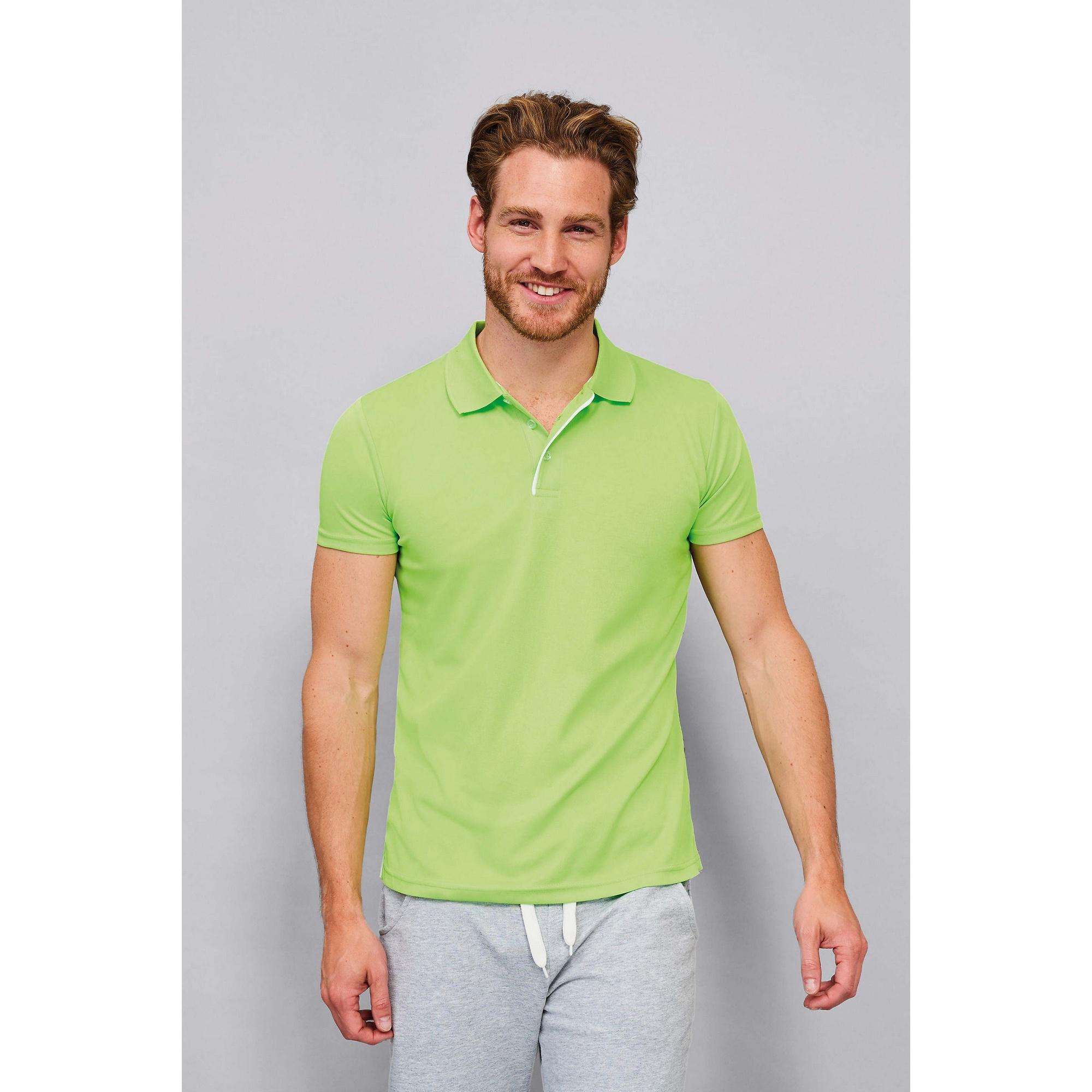 SOLS-Mens-Performer-Short-Sleeve-Pique-Plain-Casual-Fashion-Polo-Shirt-PC2162 thumbnail 12