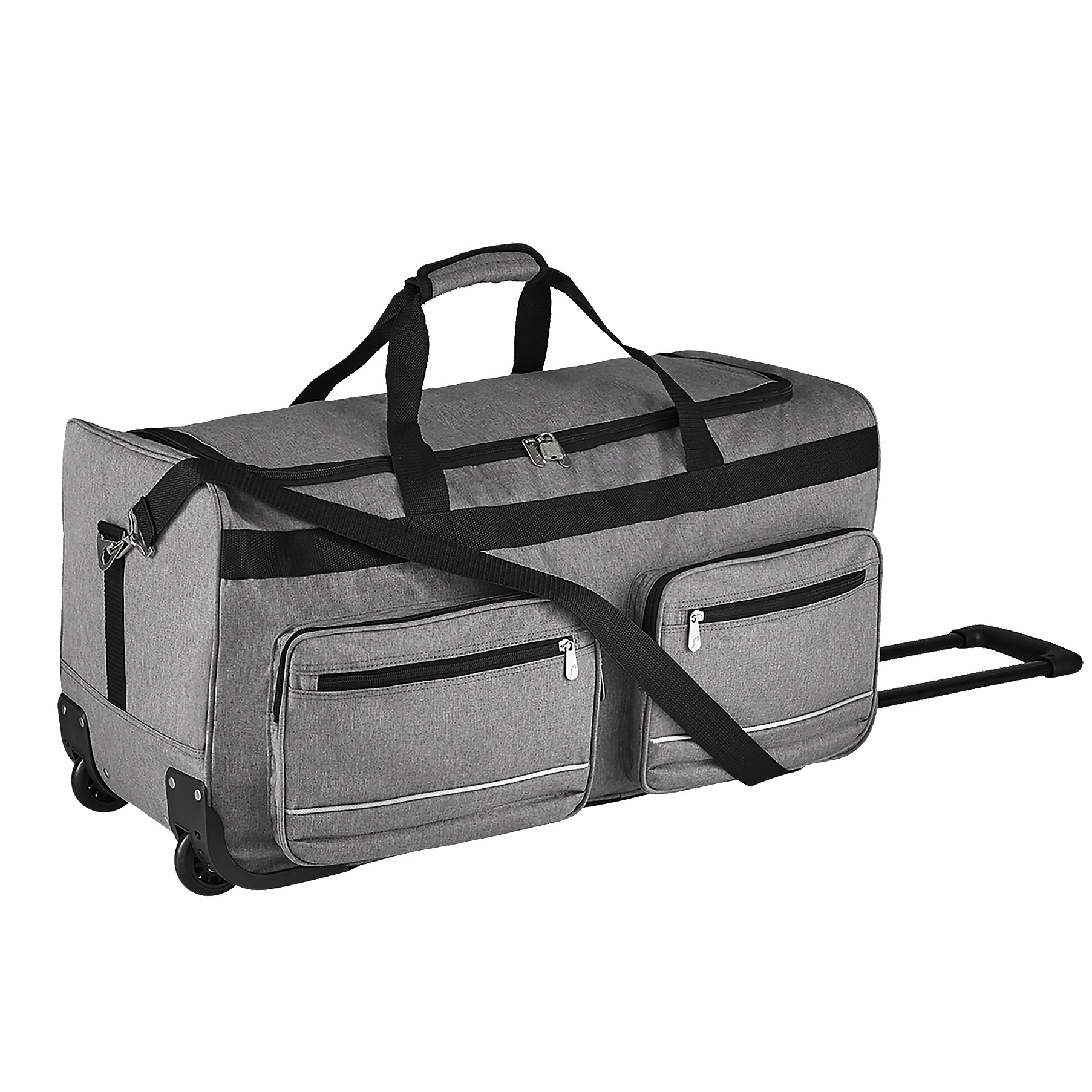 SOLS Voyager Rolling Travel Holdall Bag (One Size) (Graphite)
