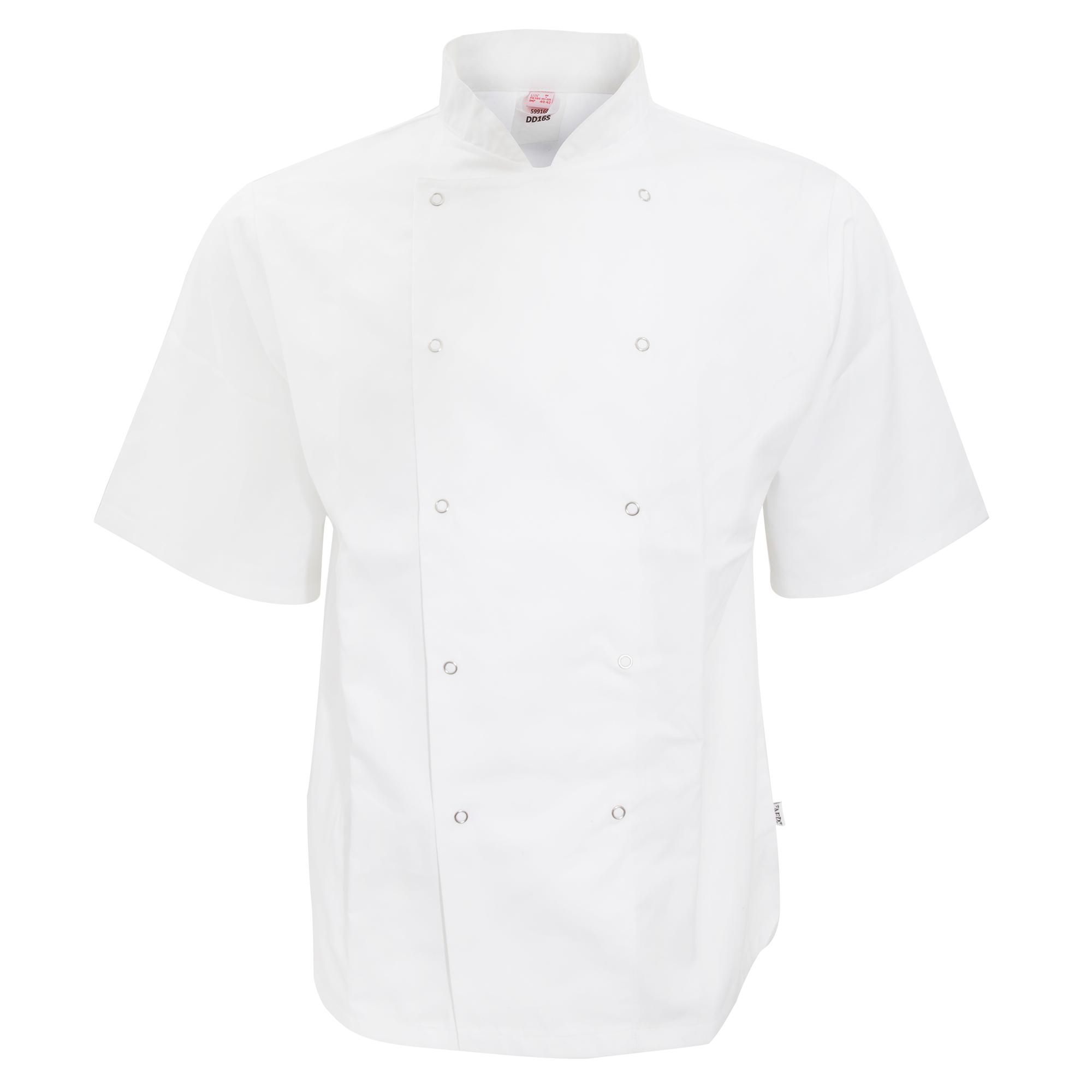 AFD Adults Unisex Short Sleeve Chefs Jacket (XL) (White)