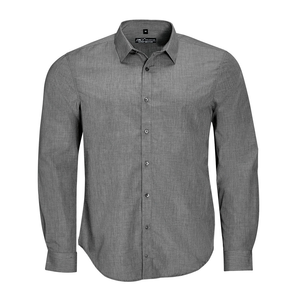 SOLS-Camisa-de-botones-de-manga-larga-Modelo-Barnet-hombre-caballero-PC2571