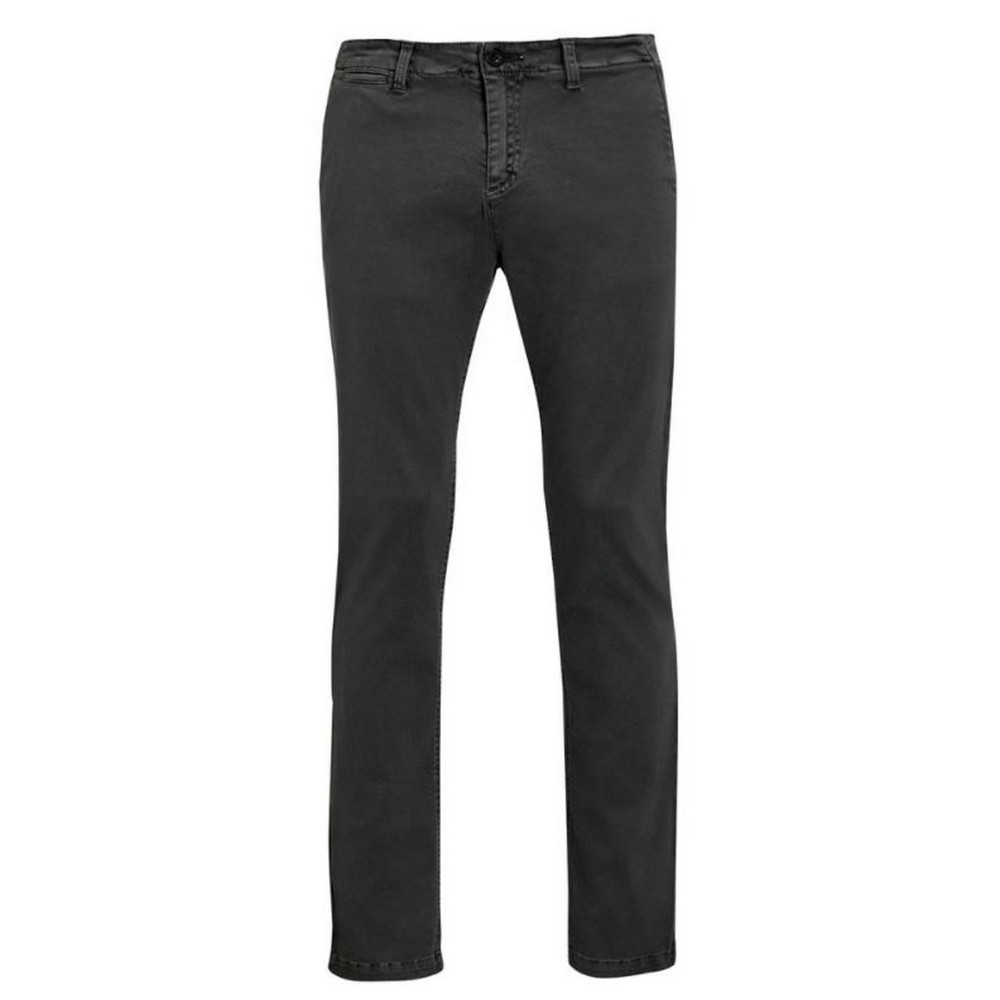SOLS Mens Jules Chino Trousers (34) (Charcoal)