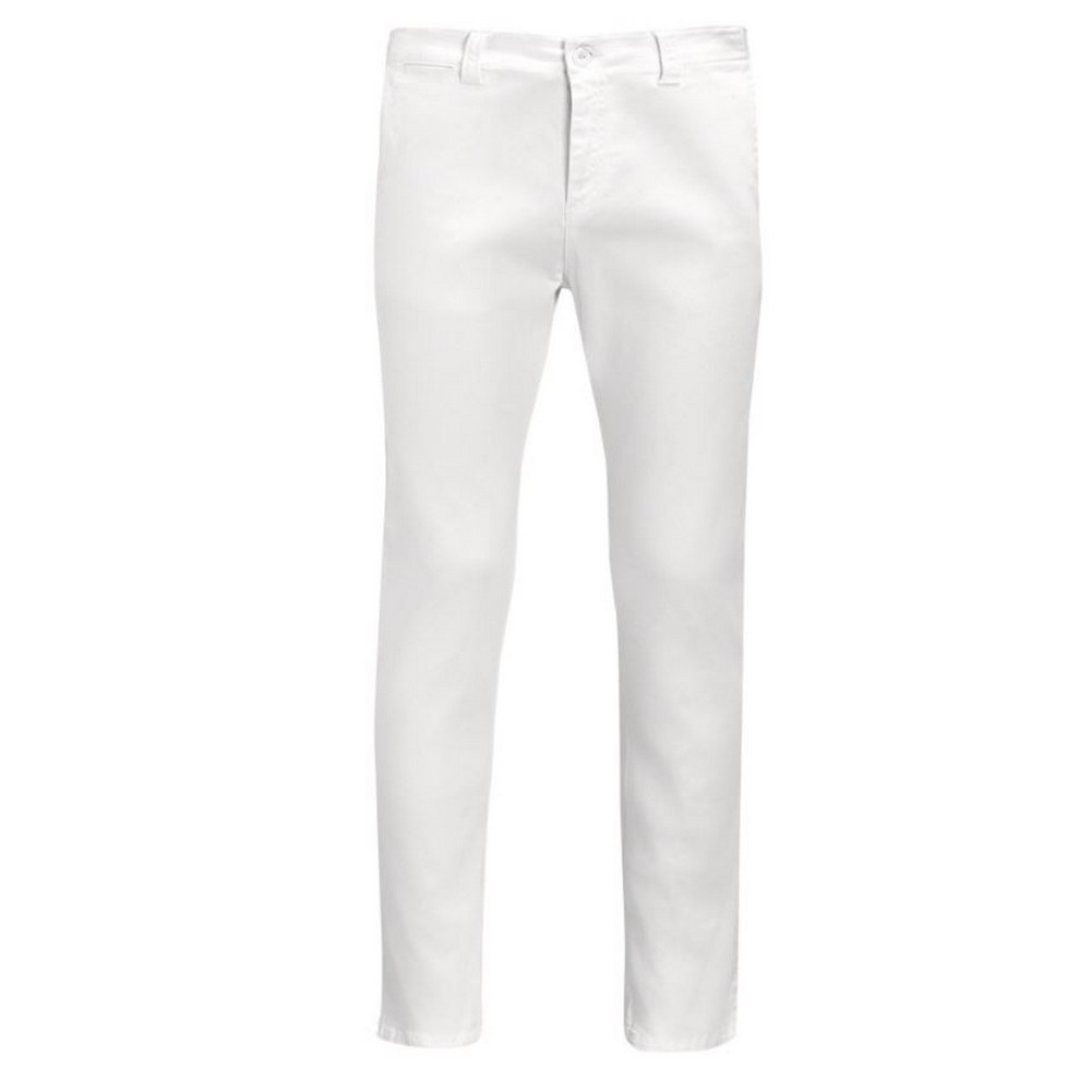 SOLS Mens Jules Chino Trousers (42) (White)