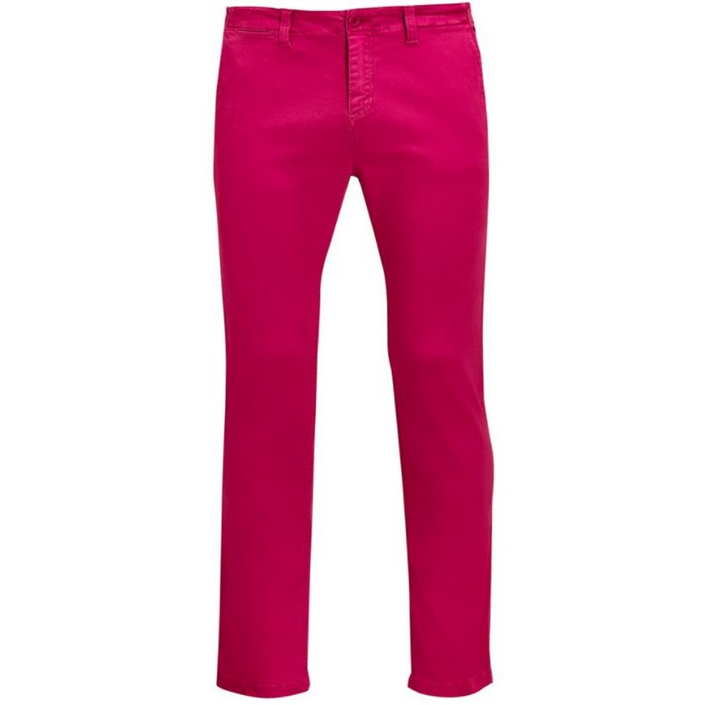 SOLS Mens Jules Chino Trousers (46) (Sunset Pink)