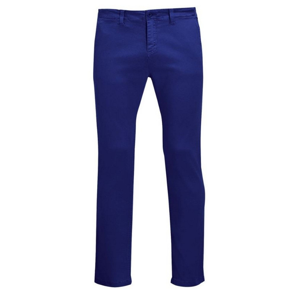 SOLS Mens Jules Chino Trousers (34) (Ultramarine)