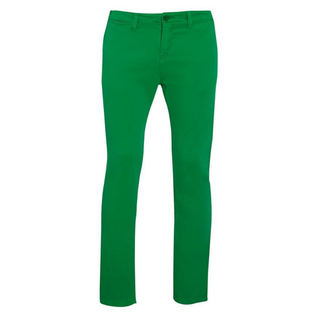 SOLS Mens Jules Chino Trousers (36) (Kelly Green)