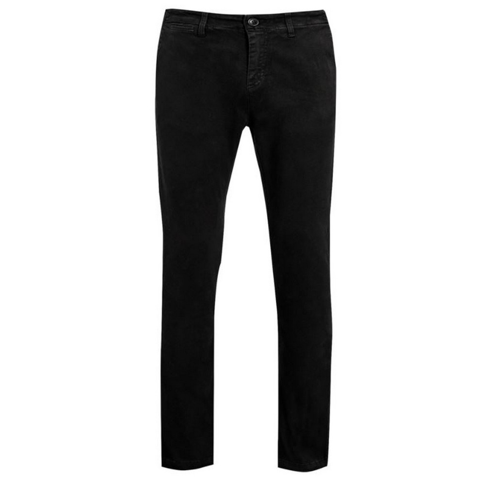 SOLS Mens Jules Chino Trousers (32L) (Black)