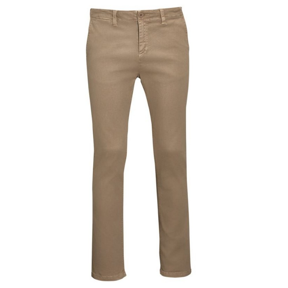 SOLS Mens Jules Chino Trousers (32) (Chestnut)