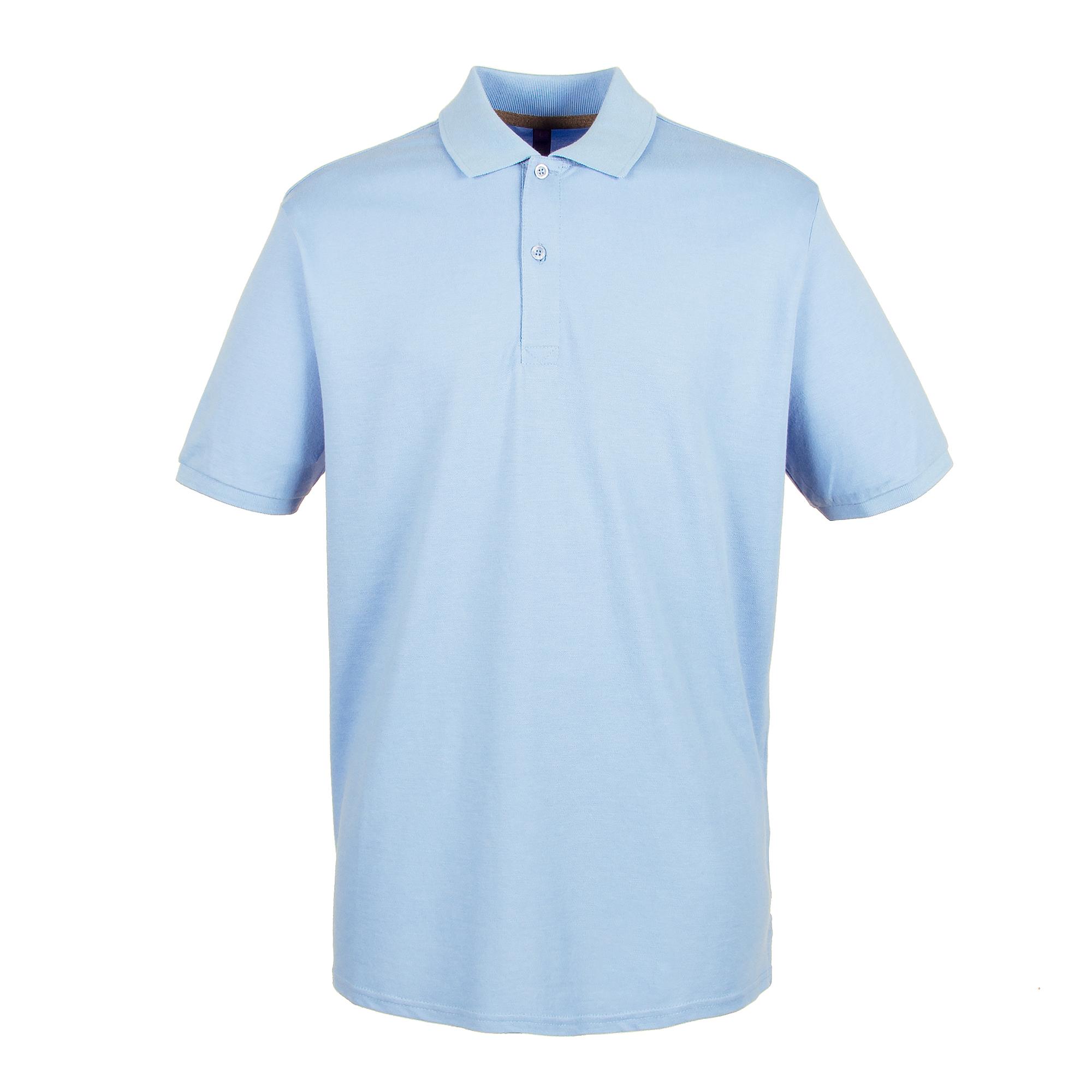 Henbury Mens Modern Fit Cotton Pique Polo Shirt (S) (Royal)