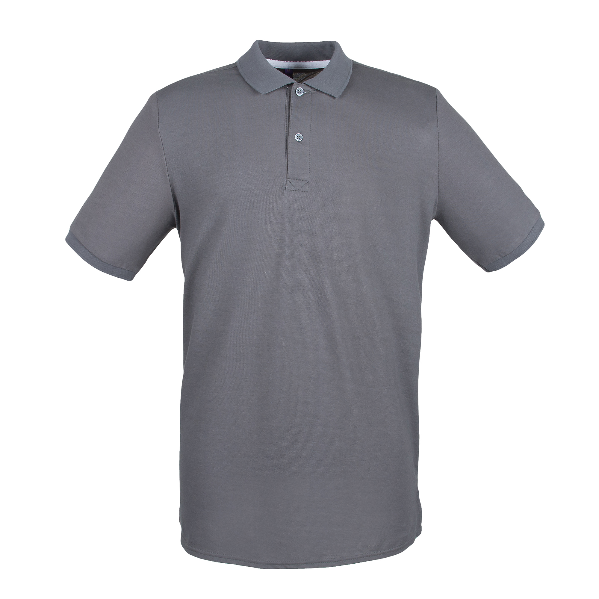 Henbury Mens Modern Fit Cotton Pique Polo Shirt (L) (Steel Grey)