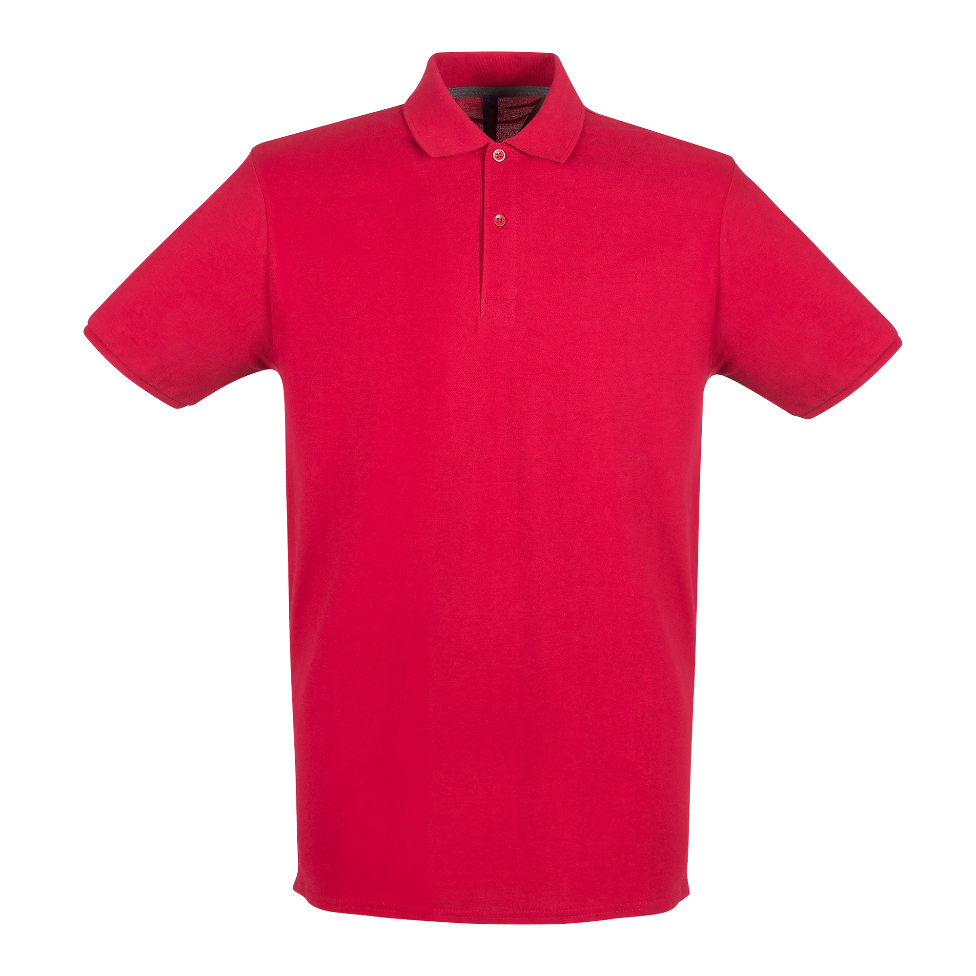 Henbury Mens Modern Fit Cotton Pique Polo Shirt (S) (Vintage Red)
