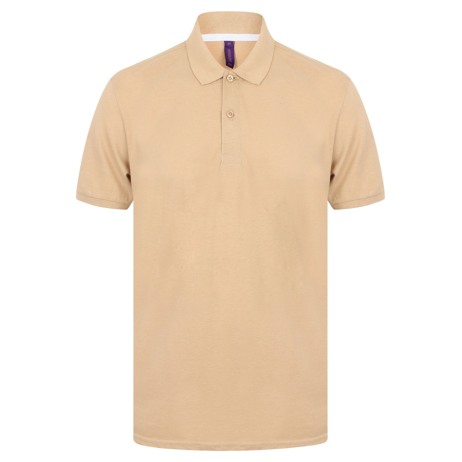 Henbury Mens Modern Fit Cotton Pique Polo Shirt (XL) (Natural)