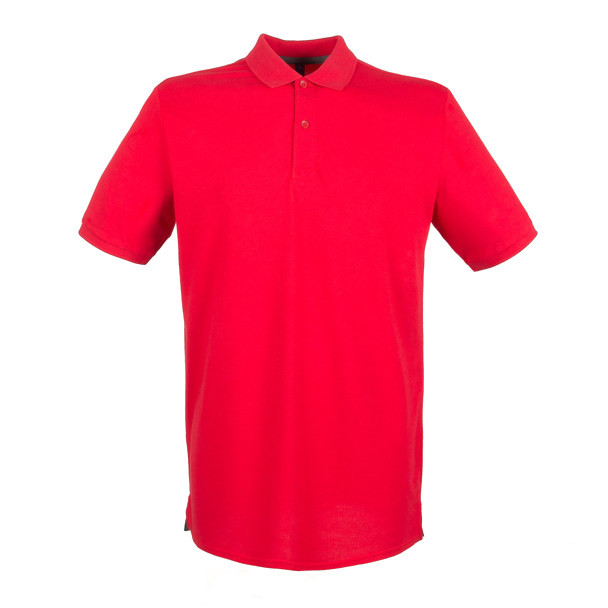 Henbury Mens Modern Fit Cotton Pique Polo Shirt (3XL) (Classic Red)