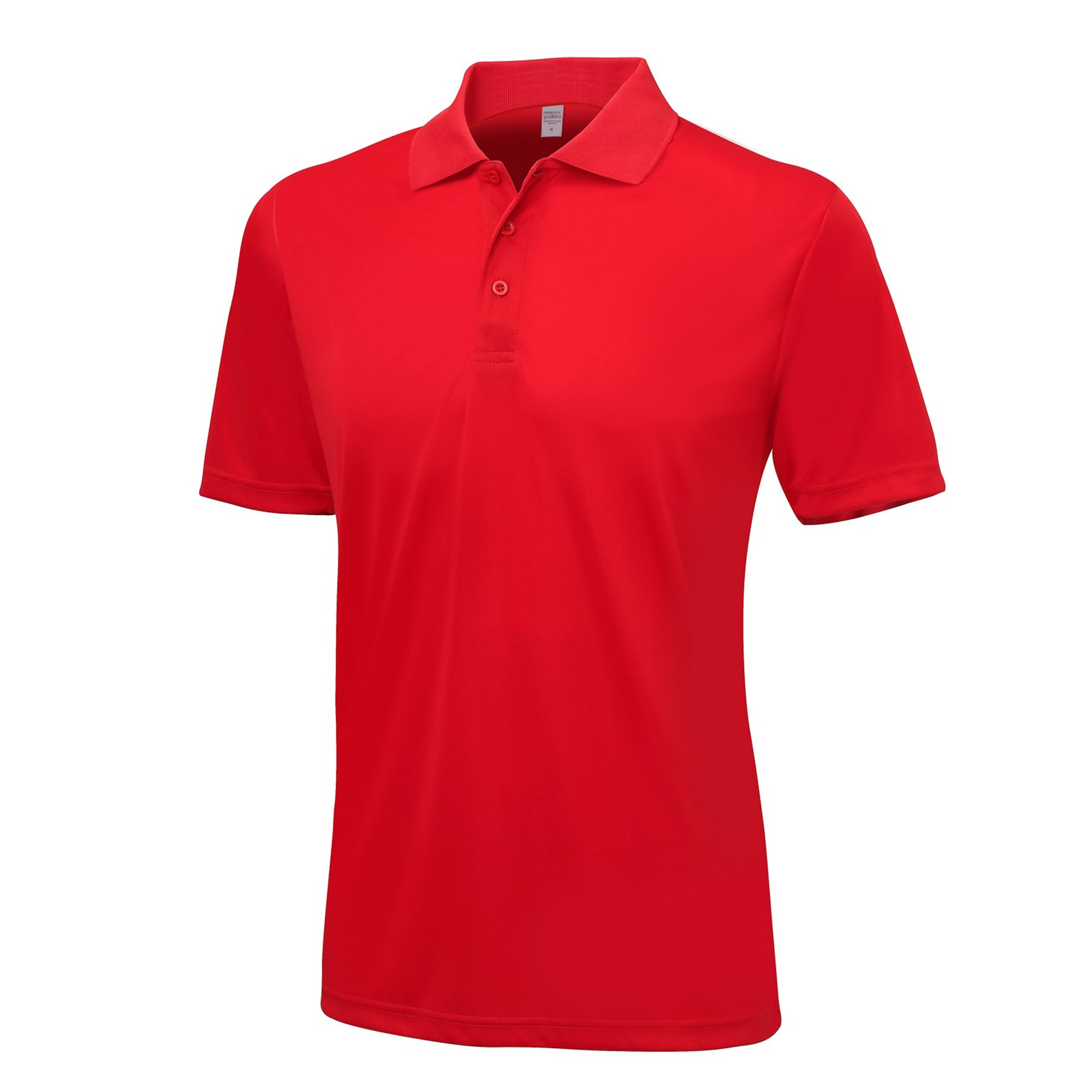 AWDis Just Cool Mens Smooth Short Sleeve Polo Shirt (M) (Fire Red)