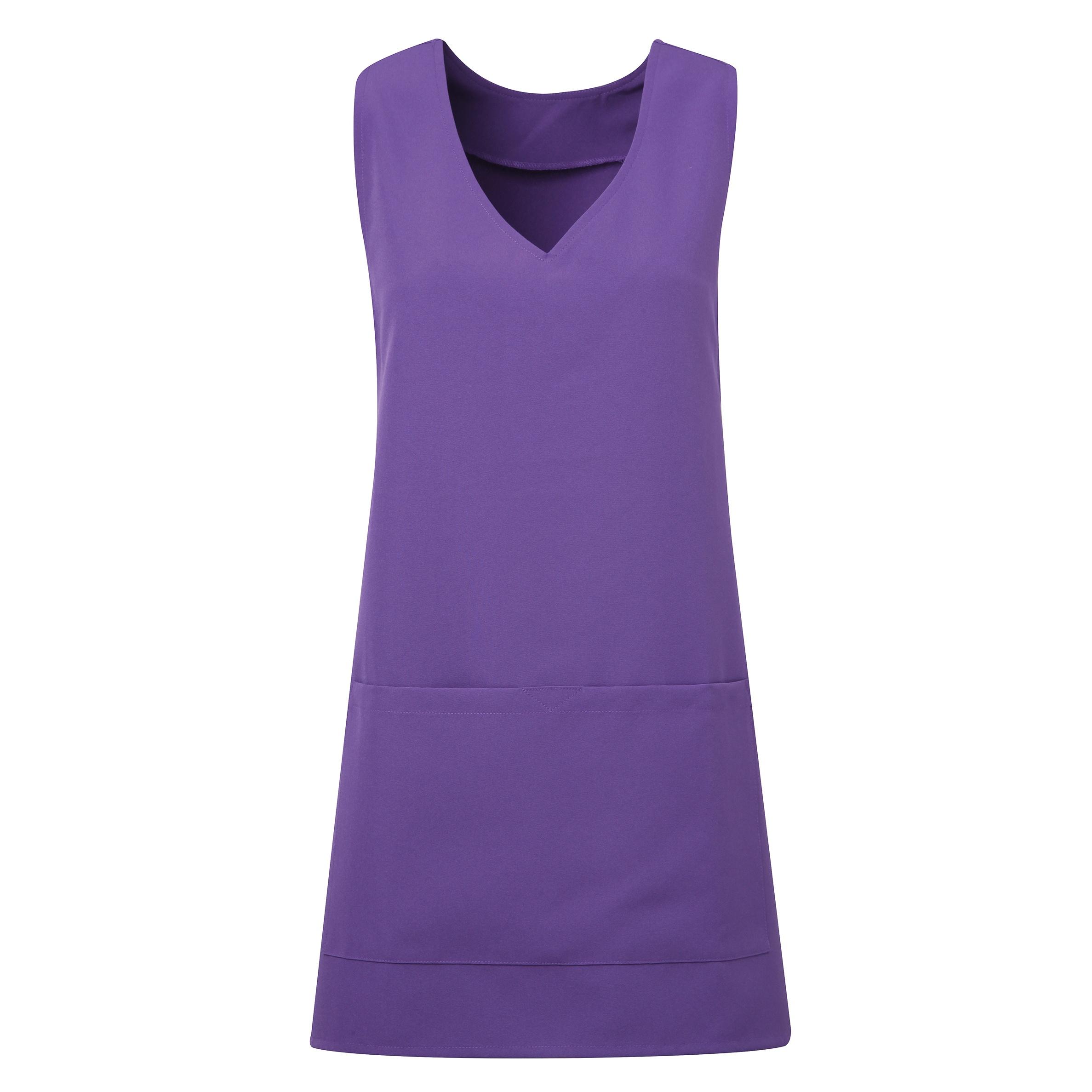 Premier Womens/Ladies Wrap Around Sleeveless Tunic Apron (L/XL) (Purple)