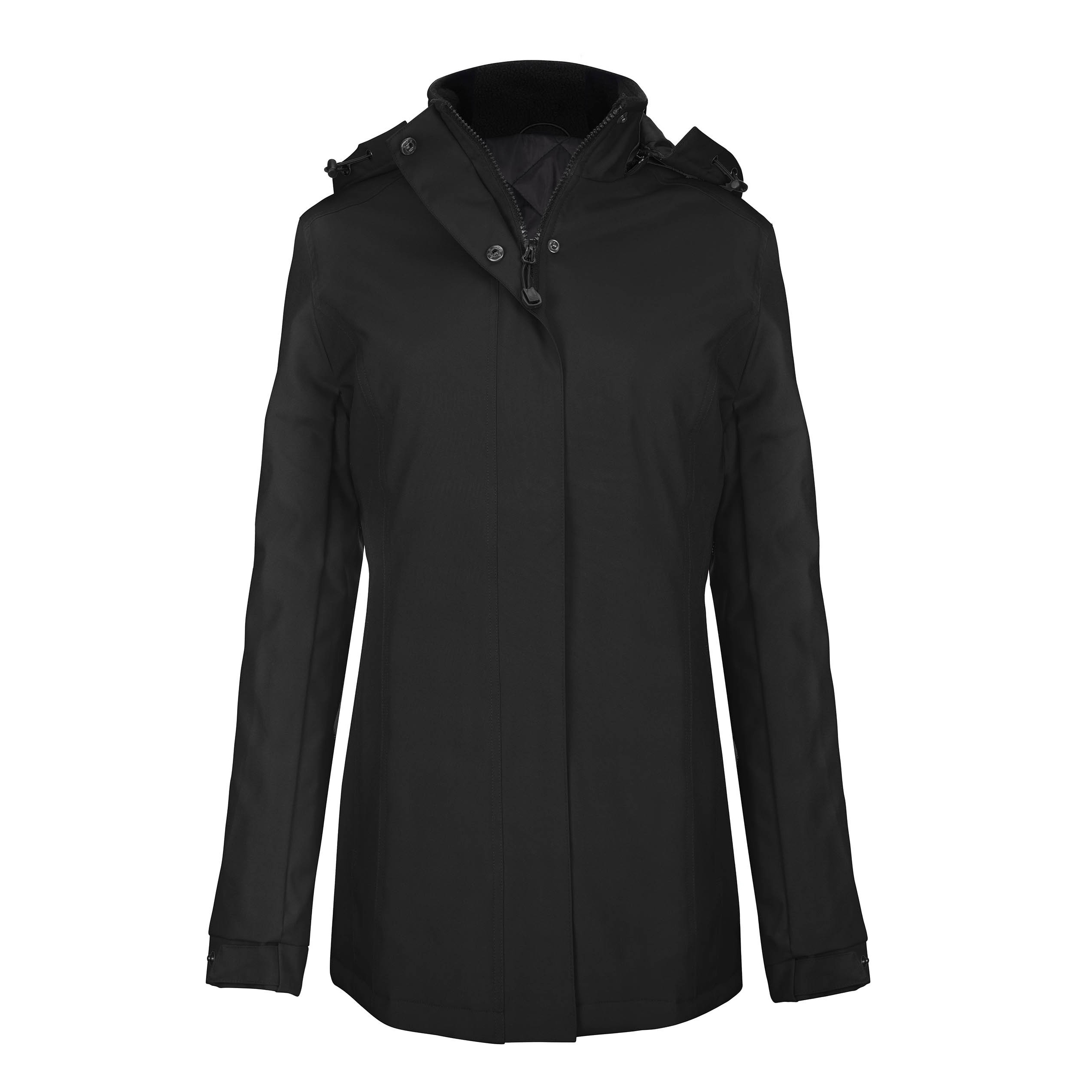 Kariban Womens/Ladies Hooded Parka Jacket (XL) (Black)