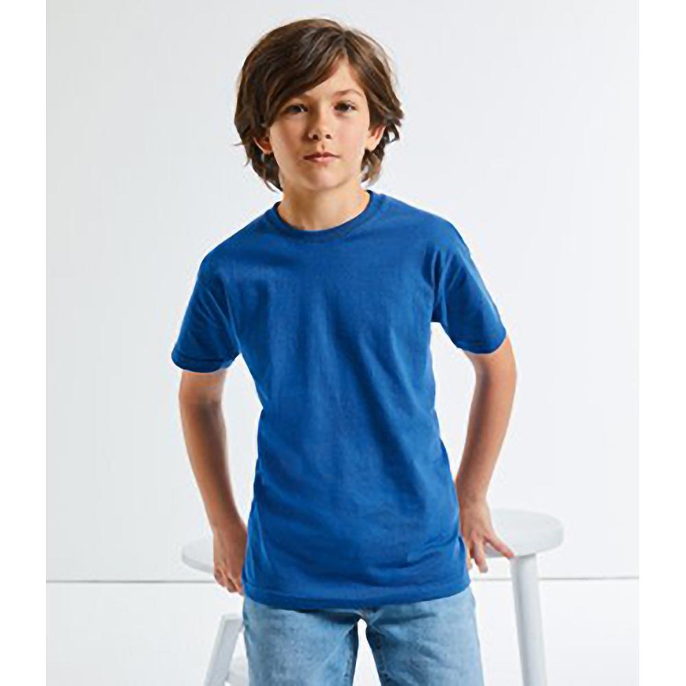 Russell Camiseta de Manga Corta Modelo Slim Para Ni/ños