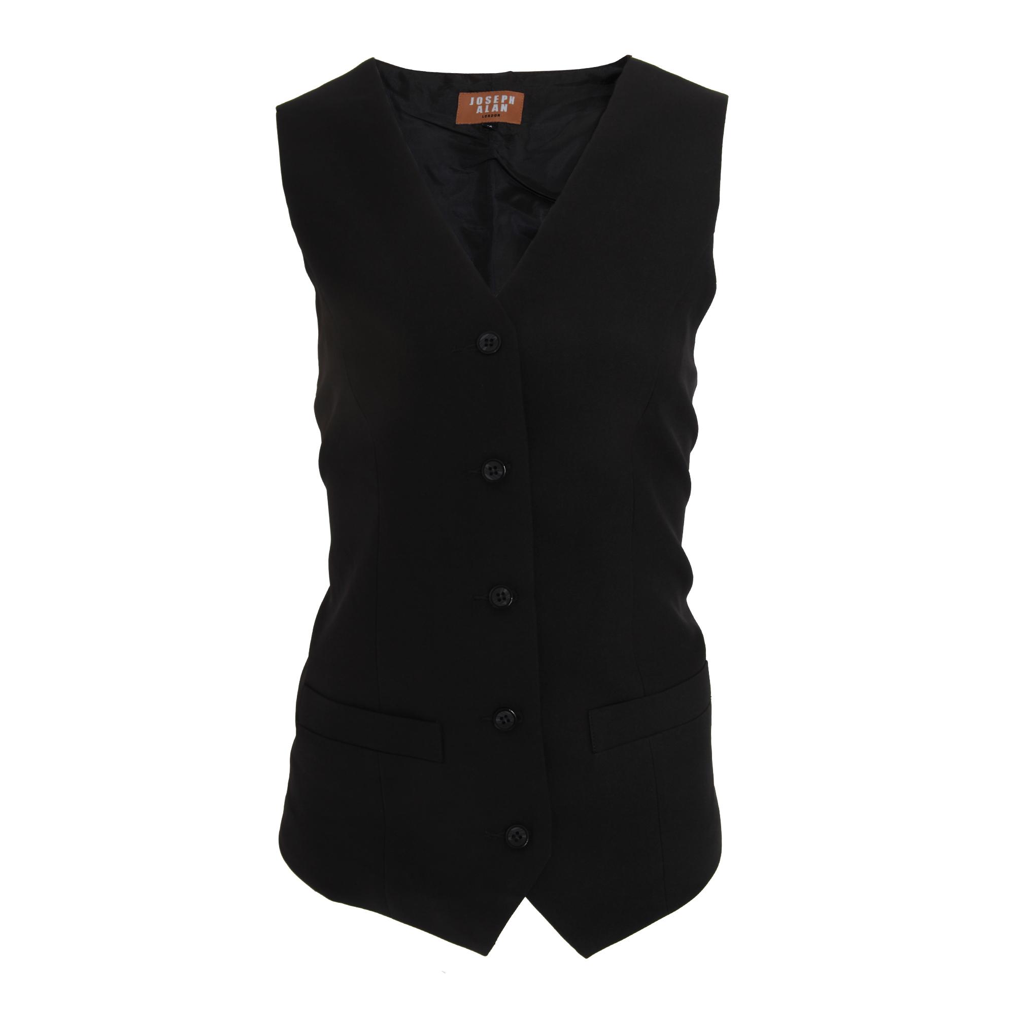 Jospeh Alan Womens/Ladies Long Length Waistcoat (20) (Black)