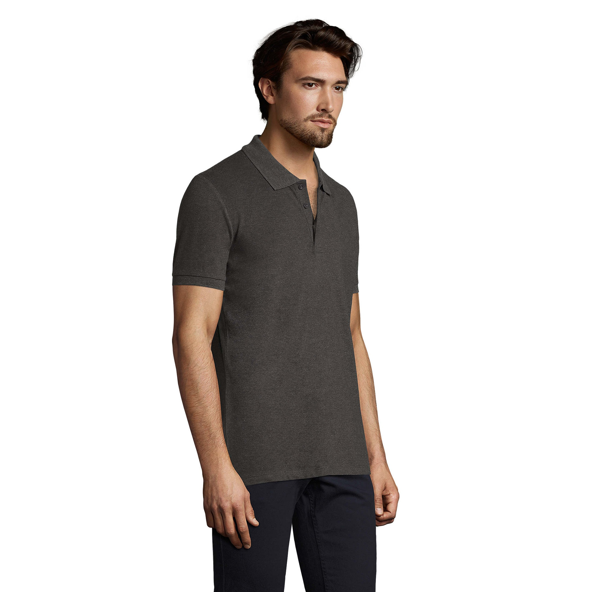 SOLS Mens Phoenix Short Sleeve Pique Polo Shirt (S) (French Navy)