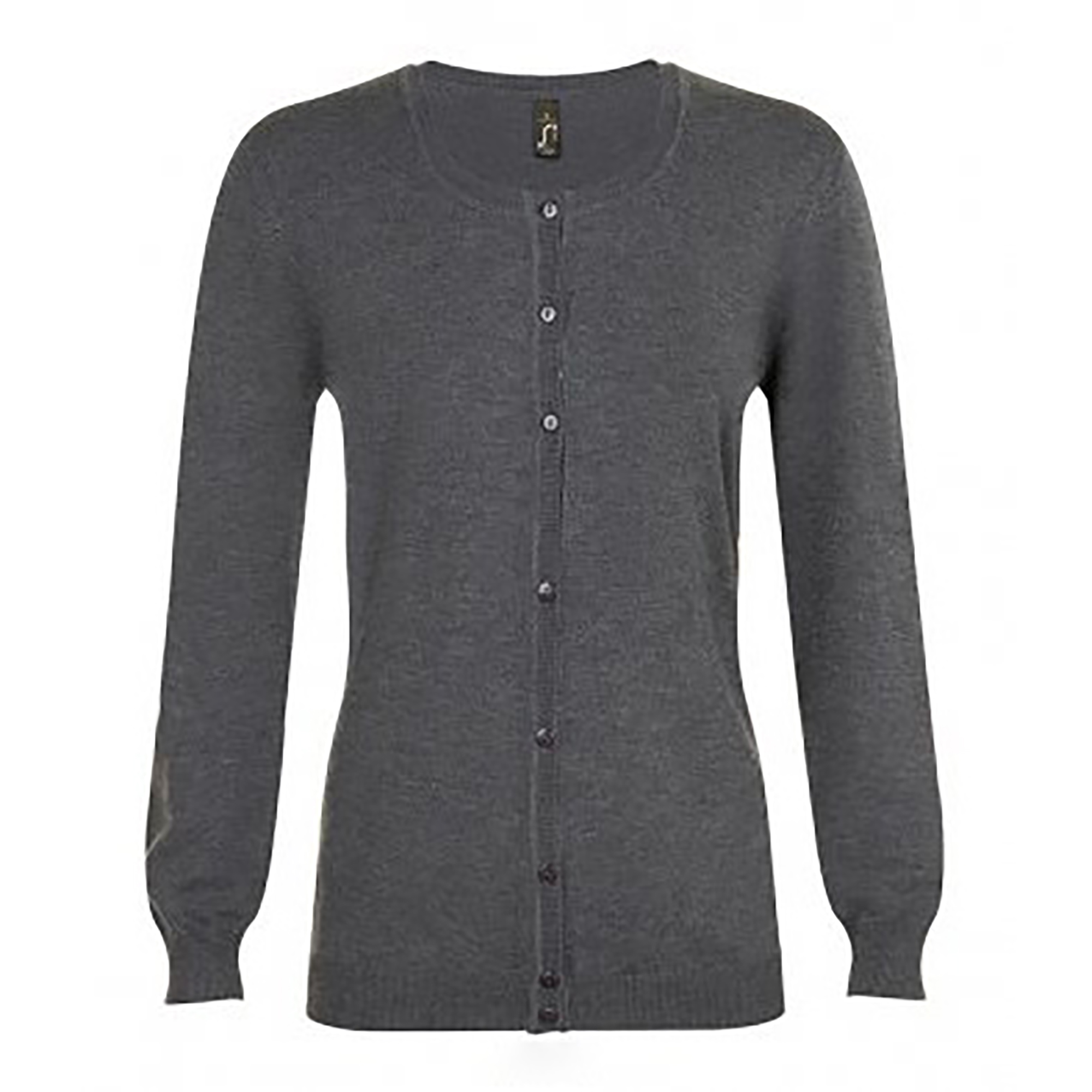 SOLS Womens/Ladies Griffith V Neck Long Sleeve Cardigan (XXL) (Charcoal Marl)