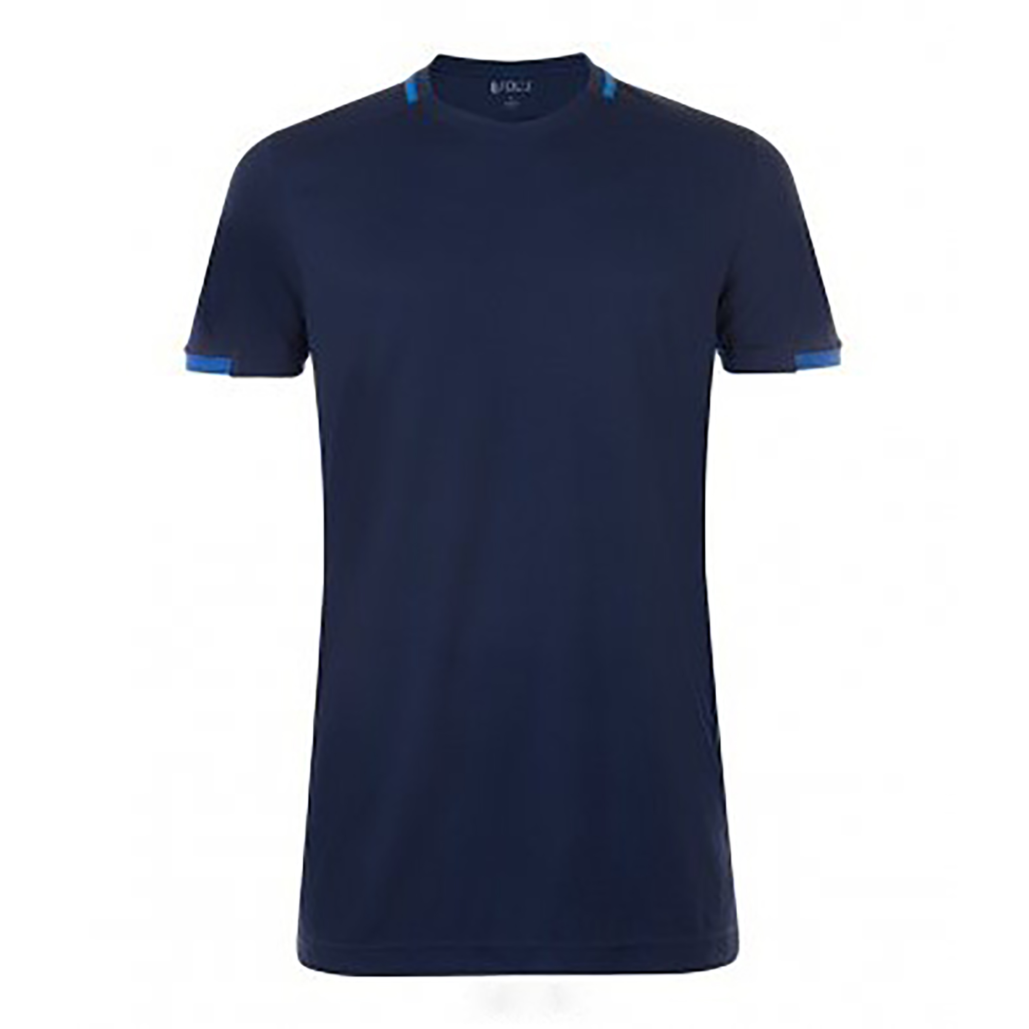 SOLS Mens Classico Contrast Short Sleeve Football T-Shirt (XS) (French Navy/Royal Blue)