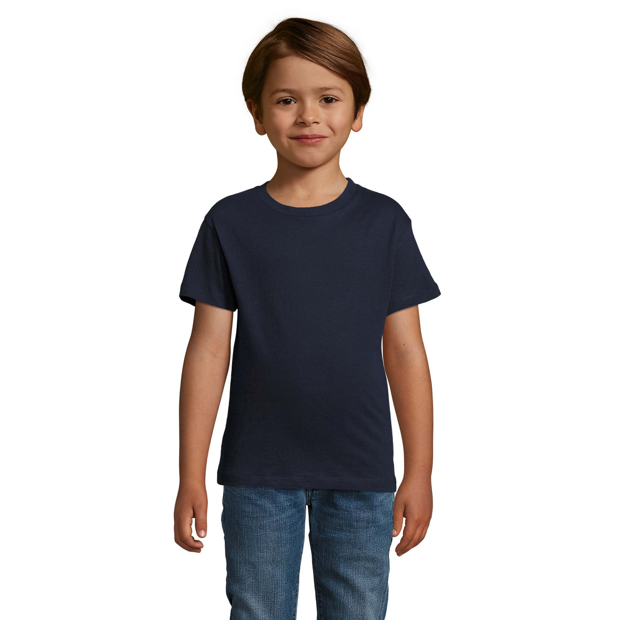 SOLS Childrens/Kids Regent Short Sleeve Fitted T-Shirt (12 Years) (Grey Marl)
