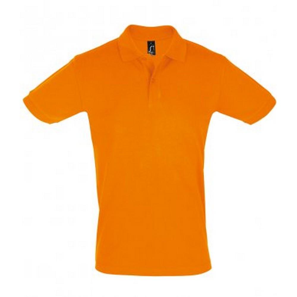 SOLS Mens Perfect Pique Short Sleeve Polo Shirt (XL) (Orange)