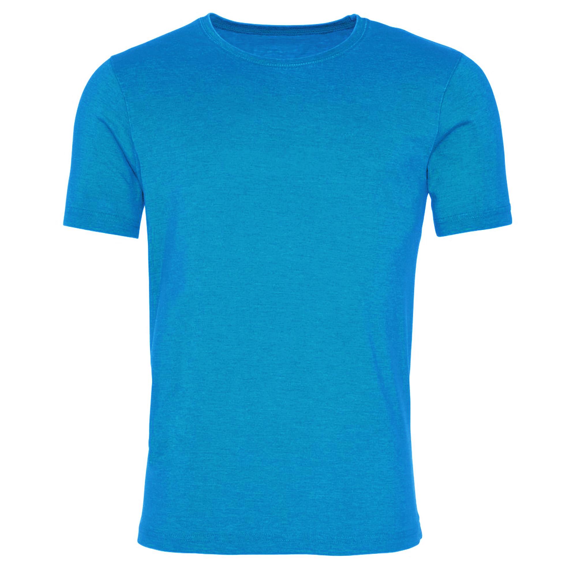 AWDis Mens Washed T Shirt (Large) (Washed Saphire Blue)