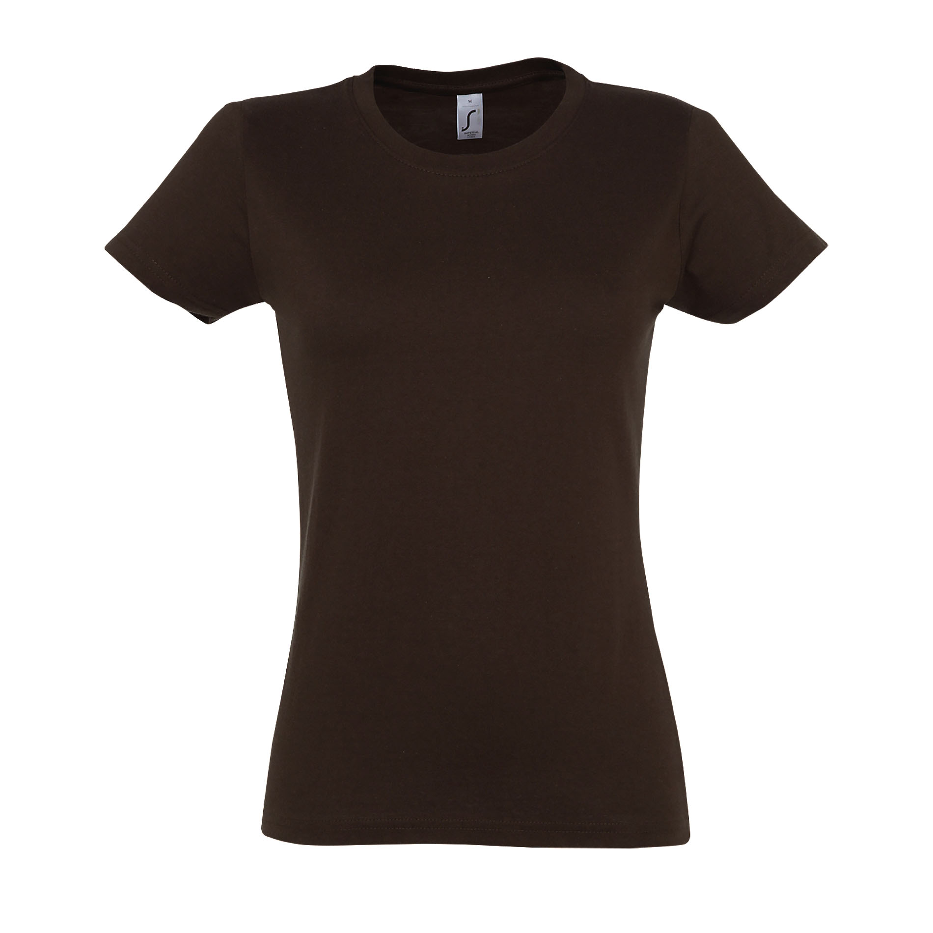 SOLS Womens/Ladies Imperial Heavy Short Sleeve T-Shirt (S) (Chocolate)