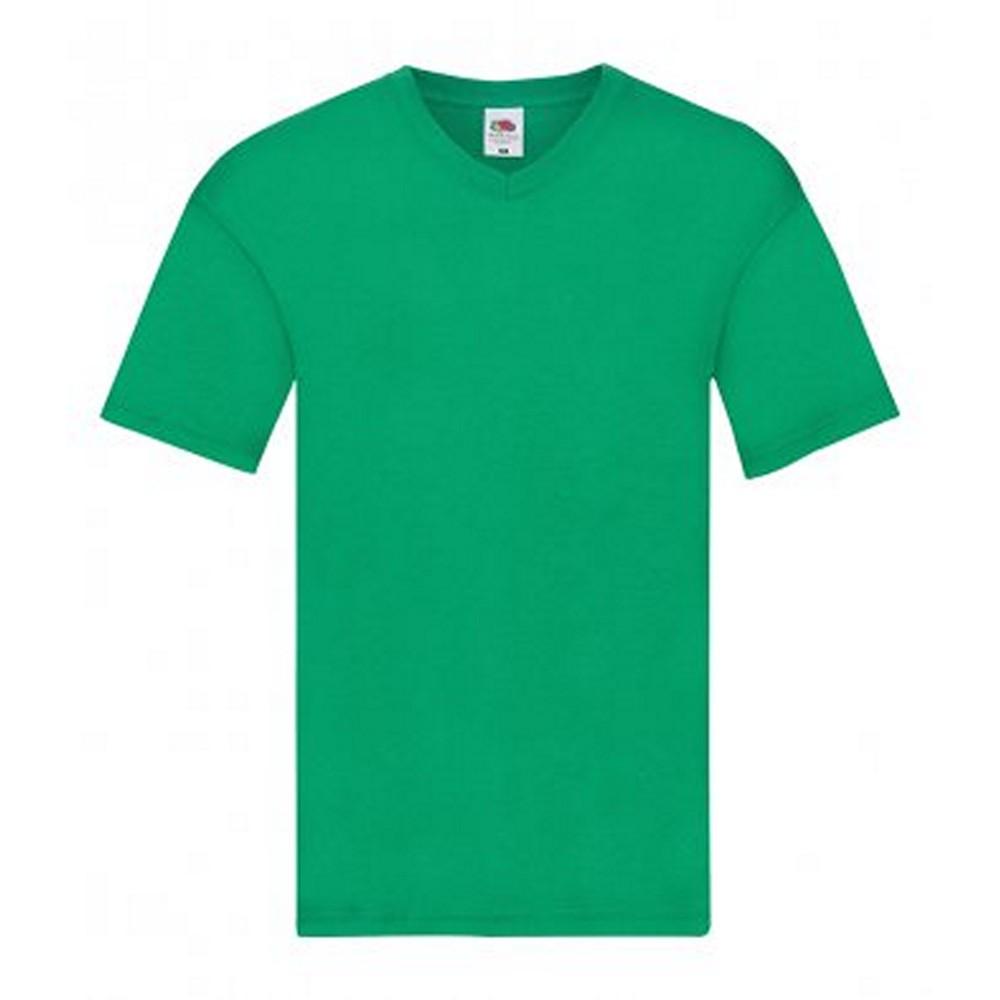 Fruit Of The Loom Mens Original V Neck T-Shirt (3XL) (Sky)