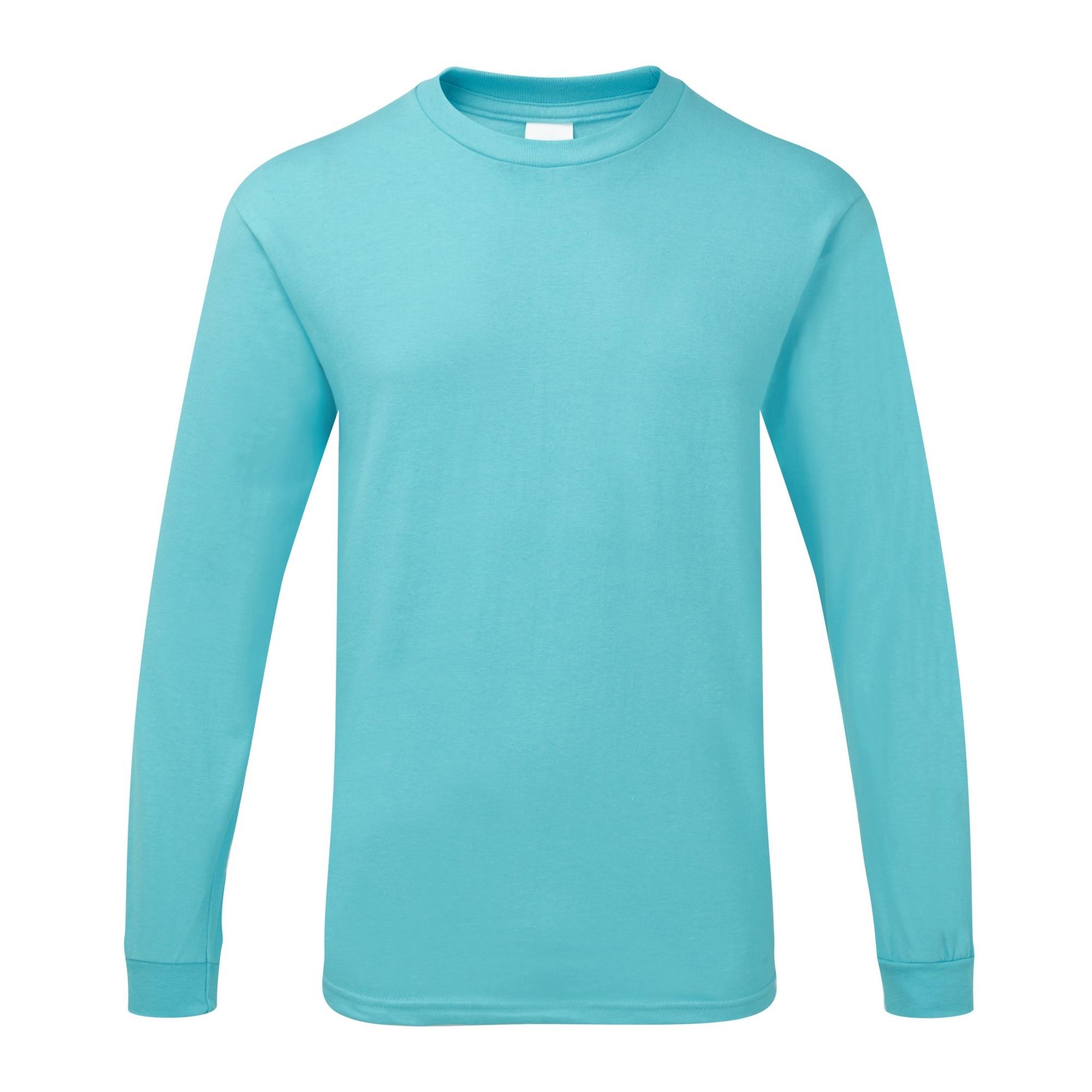 Gildan Mens Hammer Heavyweight Long Sleeve T-Shirt (XL) (Lagoon Blue)