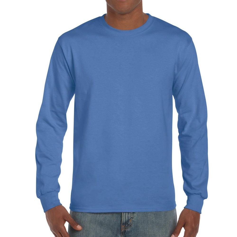 Gildan Mens Hammer Heavyweight Long Sleeve T-Shirt (XXL) (Flo Blue)