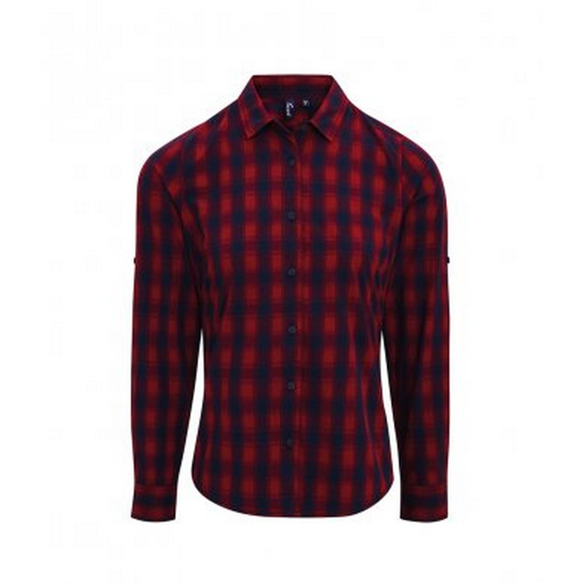 Premier-Camisa-a-cuadros-con-manga-larga-modelo-Mulligan-para-mujer-PC3104