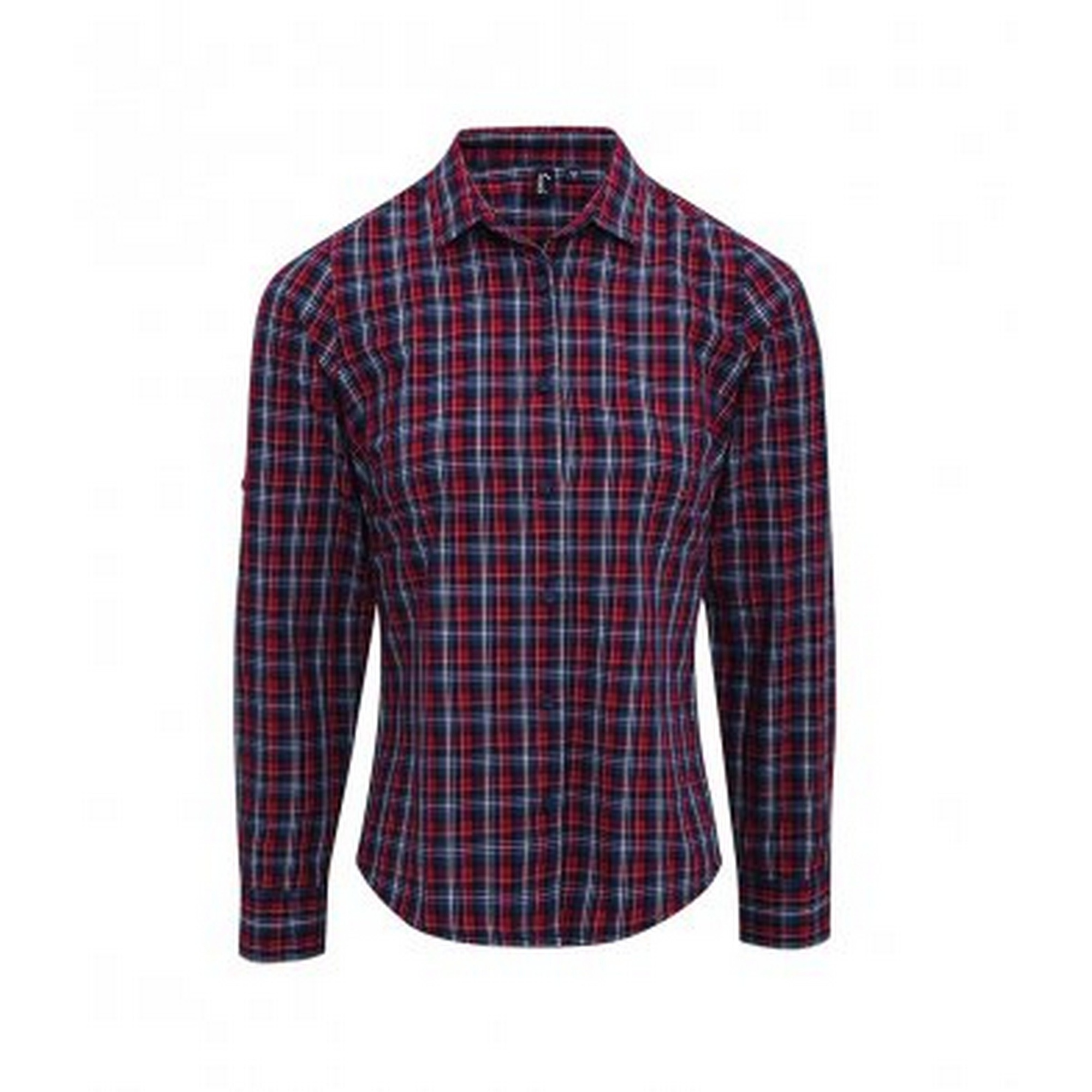Premier-Camisa-a-cuadros-de-manga-larga-modelo-Sidehill-para-mujer-PC3106