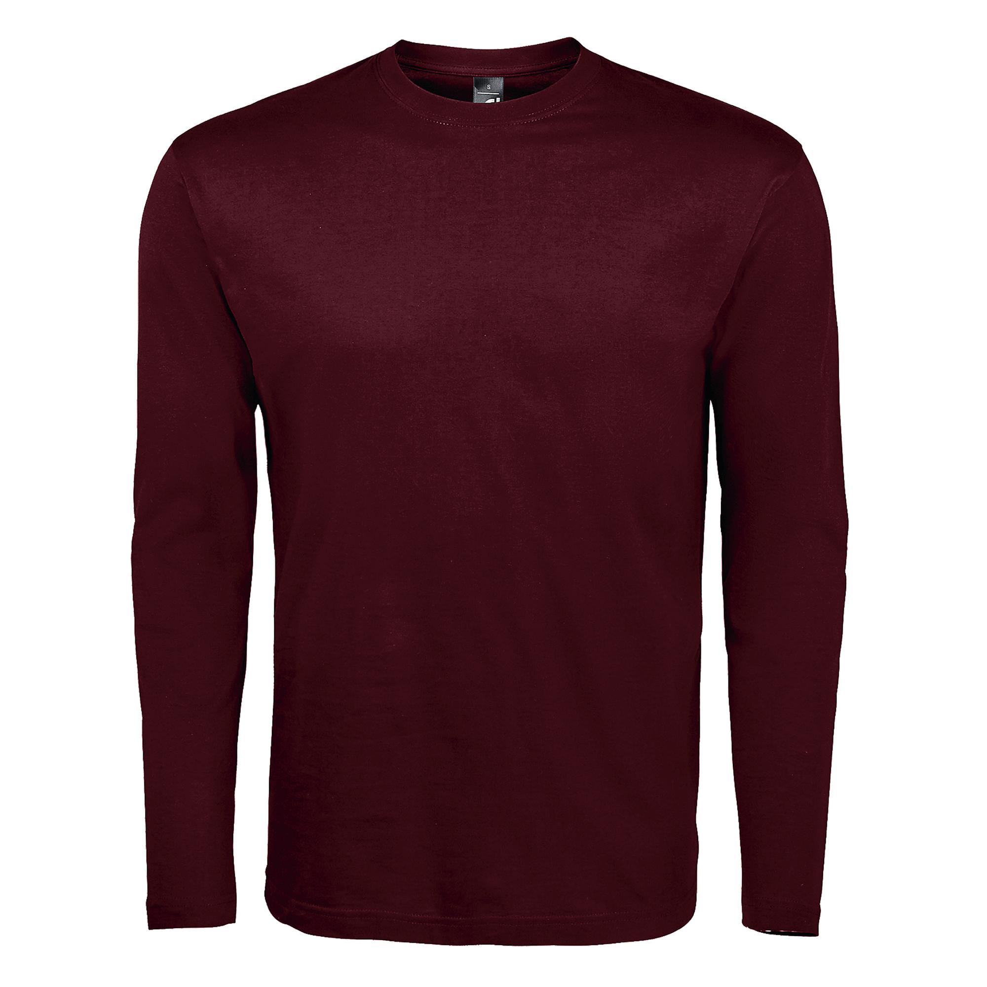 SOLS Mens Monarch Long Sleeve T-Shirt (S) (White)