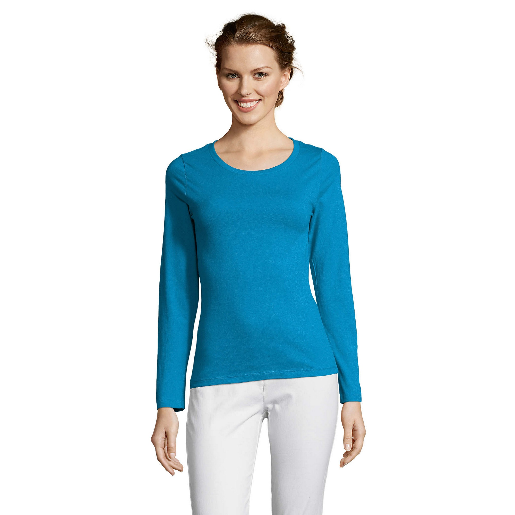 SOLS-Womens-Ladies-Majestic-Long-Sleeve-Coloured-Cotton-T-Shirt-PC314 miniatura 30