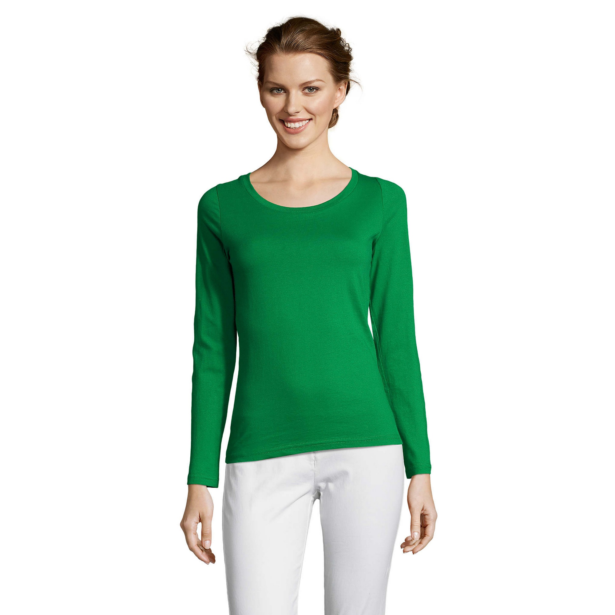 SOLS-Womens-Ladies-Majestic-Long-Sleeve-Coloured-Cotton-T-Shirt-PC314 miniatura 20