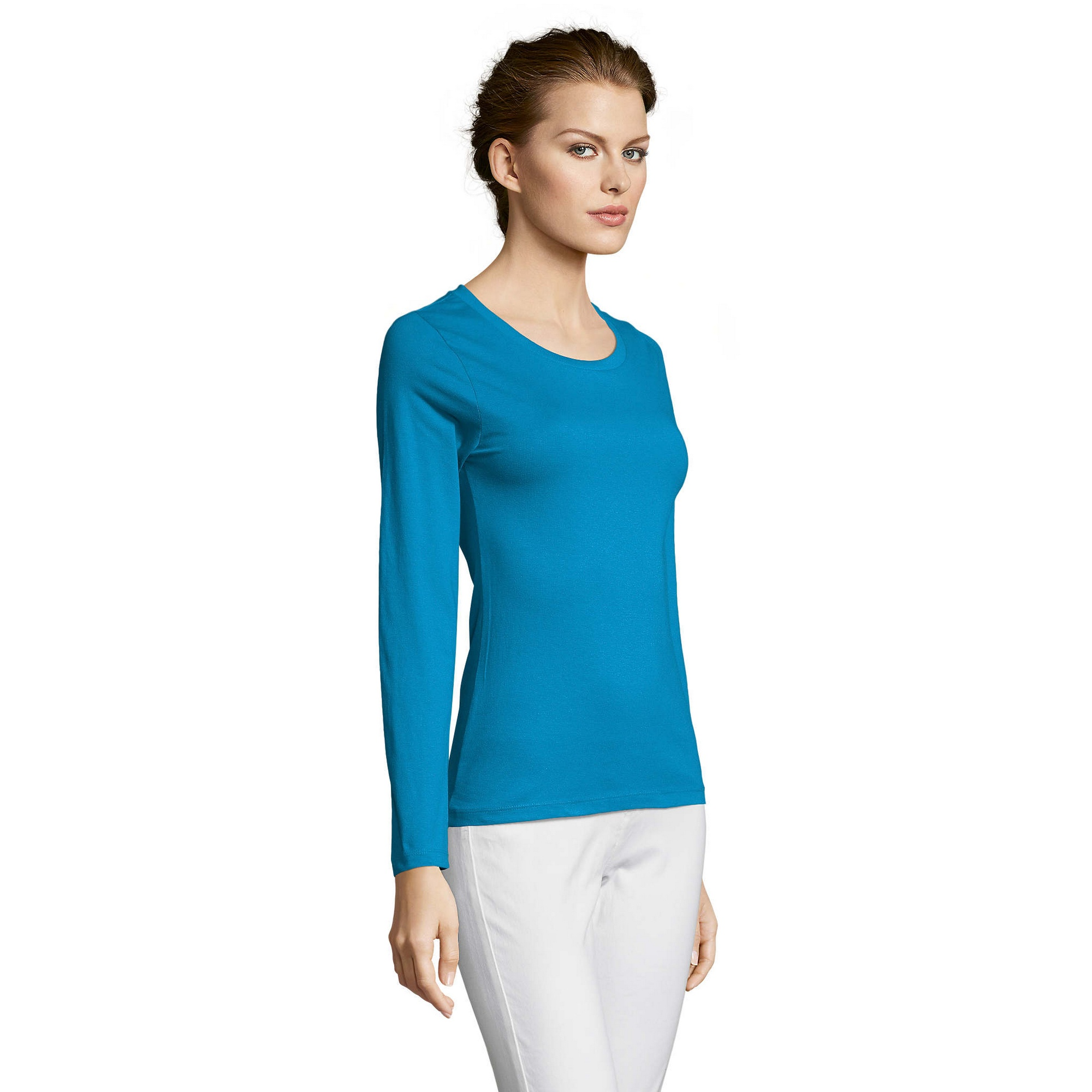 SOLS-Womens-Ladies-Majestic-Long-Sleeve-Coloured-Cotton-T-Shirt-PC314 miniatura 31