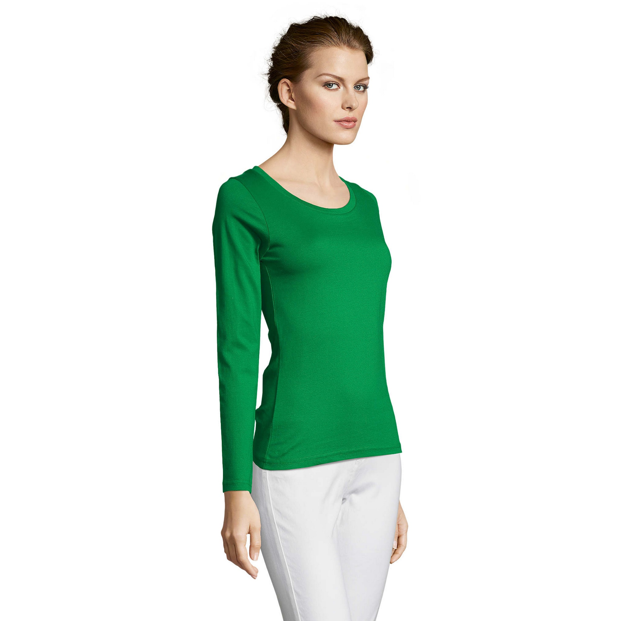 SOLS-Womens-Ladies-Majestic-Long-Sleeve-Coloured-Cotton-T-Shirt-PC314 miniatura 21