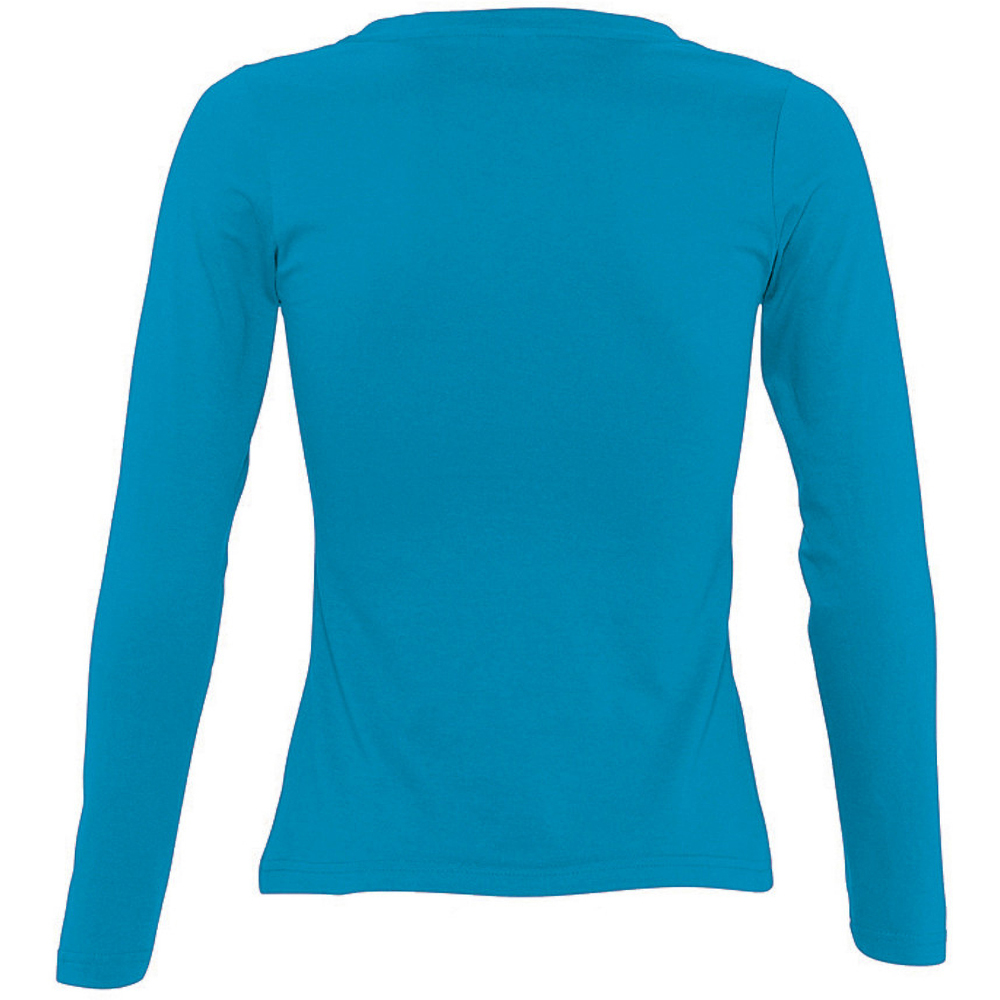 SOLS-Womens-Ladies-Majestic-Long-Sleeve-Coloured-Cotton-T-Shirt-PC314 miniatura 8